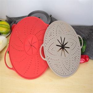 Silicone Splatter Screen Oil Splash Guard For Cooking